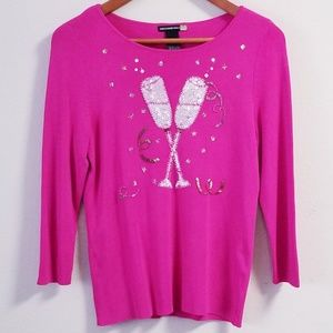Sweaterworks Sequins Holiday Sweater